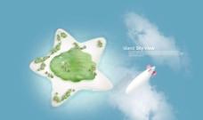 飞翔小岛图片