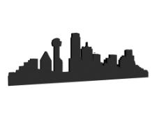 大楼剪影 城市剪影图片