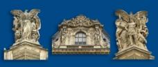 卢浮宫建筑石雕图片