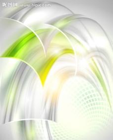 绿色动感线条光线背景图片