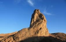 沙漠石峰图片
