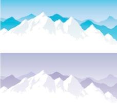 雪山矢量素材