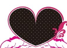 愛心翅膀logo設計图片