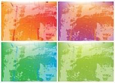 斑驳彩色背景矢量素材