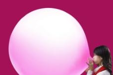 吹气球图片