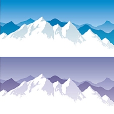 卡通雪山矢量素材