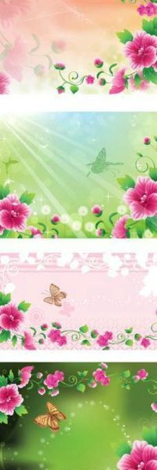 花纹花卉卡片条幅横幅图片